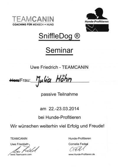 Fortbildung Team Canin Hunde Profitieren 2014